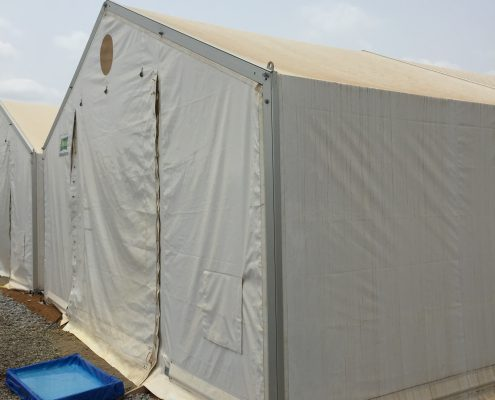 Ebola diagnostic tent in Makeni, Sierra Leone